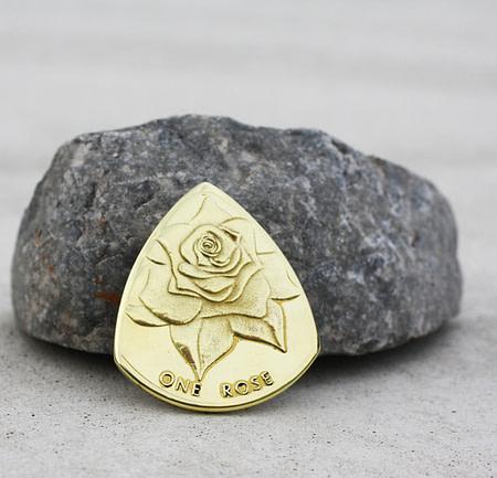 1 Free Rose Token New Philadelphia, OH Coin Guitar Pick, Coin Guitar Picks