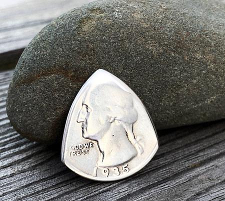 1935 US Quarter 1 Coin Guitar Pick, Coin Guitar Picks