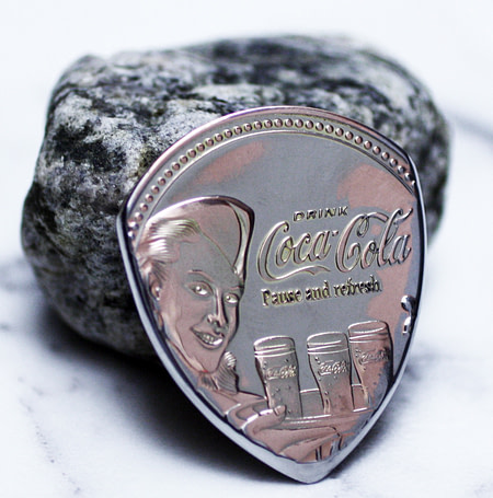 Coca Cola Coin Guitar Pick, Coin Guitar Picks