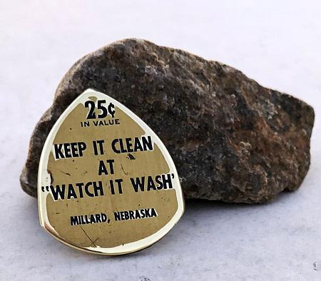 Keep it Clean Car Wash Millard, Nebraska Coin Guitar Pick, Coin Guitar Picks