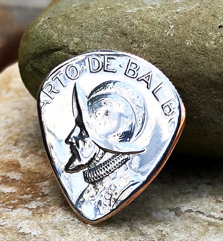 1966 Panama Quarter Balboa Coin Guitar Pick, Coin Guitar Picks