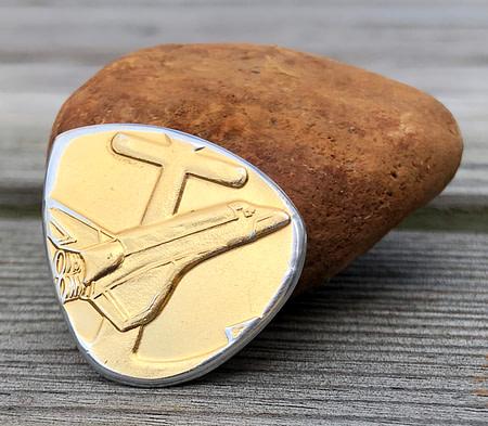 STS-6 Flown Coin 2 Coin Guitar Pick, Coin Guitar Picks