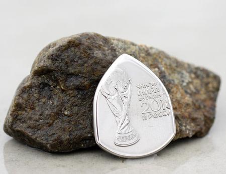 2018 Russia 25 Rubles FIFA World Cup Coin Guitar Pick, Coin Guitar Picks