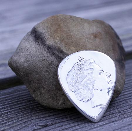 2019 Tuvalu Homer Simpson 999 silver Coin Guitar Pick, Coin Guitar Picks