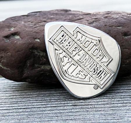 Harley Davidson Aluminum Logo Coin Guitar Pick, Coin Guitar Picks
