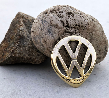 Vintage Volkswagen Key 1 Coin Guitar Pick, Coin Guitar Picks