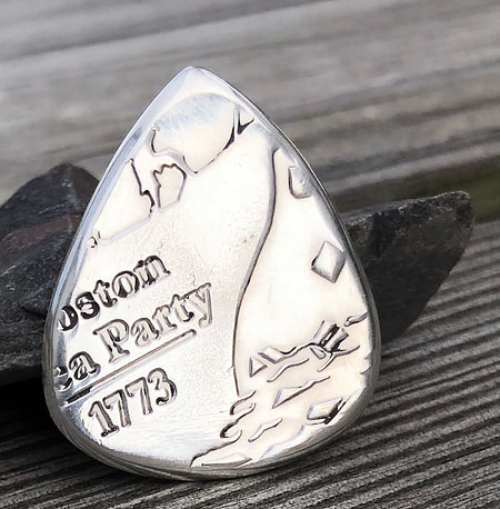 Don't Tread on me 999% Silver Coin Guitar Pick, Coin Guitar Picks