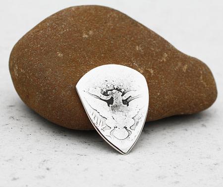 1895 US Barber Half Dollar 90% Silver 2 Coin Guitar Pick, Coin Guitar Picks