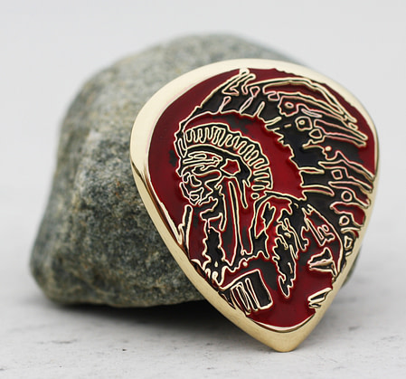 Mulberry St Cigar Company Little Italy, NYC, New York Coin Guitar Pick, Coin Guitar Picks