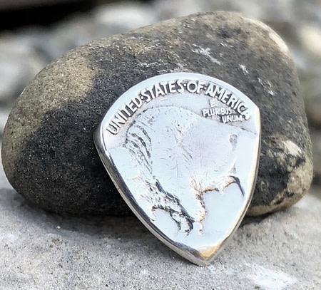 Buffalo Nickel 2 Coin Guitar Pick, Coin Guitar Picks